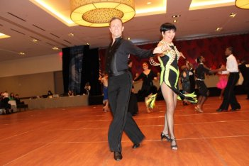 Ballroom Dancers in competition