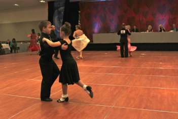 Kids at Ballroom DAnce Competition