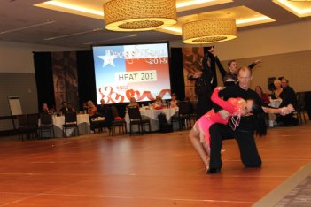 Ballroom Dancers showing skills