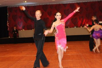 Ballroom Dance couple performing