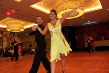 Couple at the Texas Star Ball Competition
