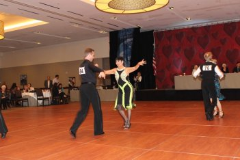 Couple competing at Texas STar Ball